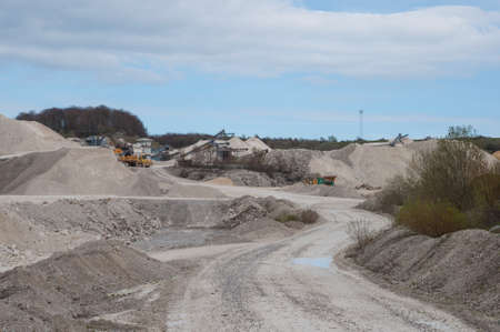 Faxe limestone Quarry on a sunny spring day