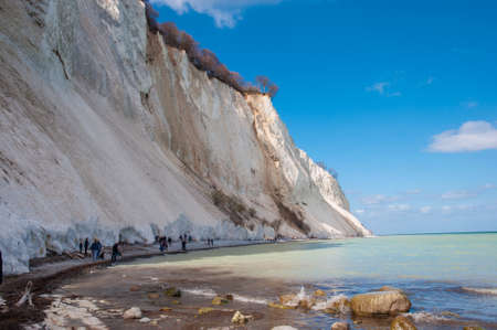 Danish Cliff of Mons Klint on a sunny day