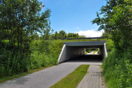 Tunnel under a road in city of Aalborg in Denmark