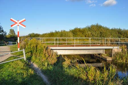 Railway bridge in Aalborg Denmark