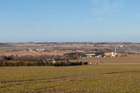 agricultural area near Aalborg in Denmark