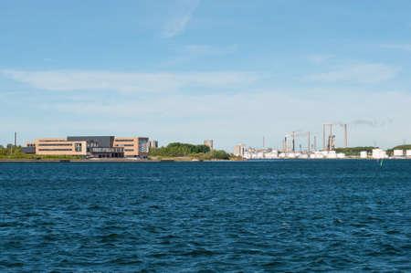 Aalborg harbor in Denmark