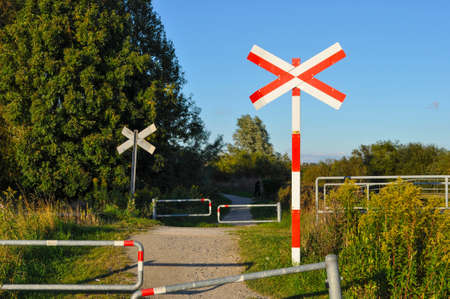 Railroad crossing in Denmark