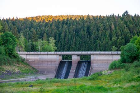 Oker reservoir pre-dam in the Harz mountain in Germany Standard-Bild - 96175700