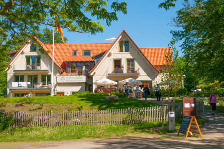 Bad Harzburg - May 26. 2017: Restaurant and hotel on top of Burgberg mountain in Germany Standard-Bild - 96093121