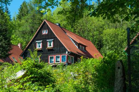 Mountain house in village of Schierke in Germany Standard-Bild - 96175650