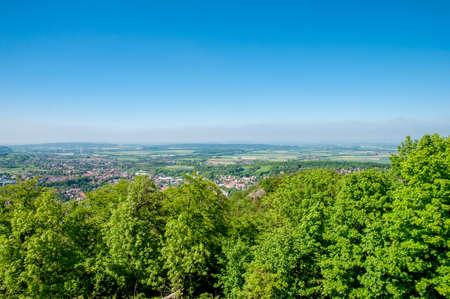 Aerial view of Town of Bad Harzburg in Germany Standard-Bild - 96106455