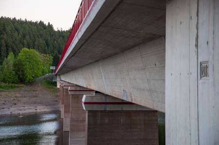 Bridge crossing the Oker reservoir in Germany Standard-Bild - 96072972