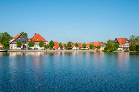 Town of Ilsenburg in Harz region in Germany Standard-Bild - 96083403