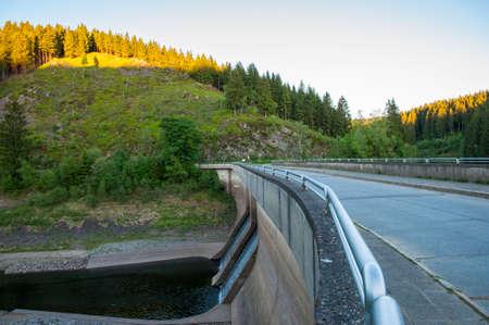 Oker reservoir pre-dam in the Harz mountain in Germany Standard-Bild - 96176505