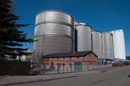 Silo in Nykoebing F in Denmark 版權商用圖片