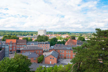 cityscape of Naestved in Denmark Stok Fotoğraf