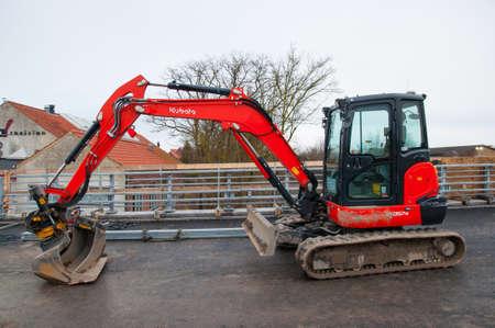 Vordingborg Denmark - January 19. 2018: five ton Kubota KX057-4 mini excavator