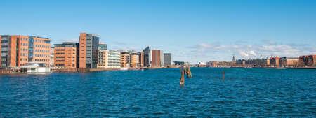 Skyline of city of Copenhagen in Denmark Фото со стока