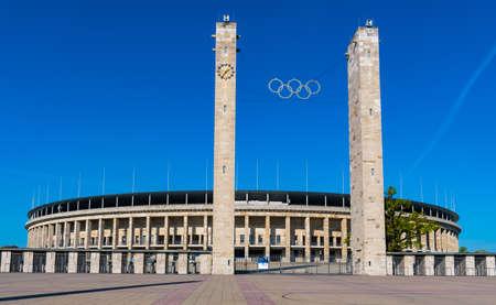 Berlin Germany - April 22. 2018: Berlin Olympic stadium Redakční