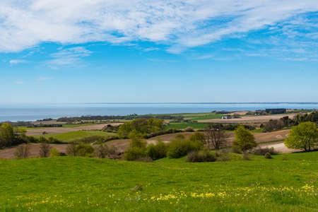 Danish Countryside landscape on island of Moen in Denmark Stock Photo