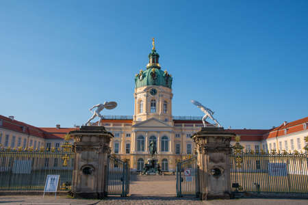 Berlin Germany - April 20. 2018: Charlottenburg Palace in city of Berlin on a summer day