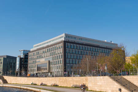 Berlin Germany - April 20. 2018: the Federal Press Conference Office building in the city center of Berlin Editorial