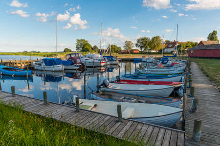 Port of Sandvig on the Danish countryside on a sunny summer day Stock Photo - 131320989