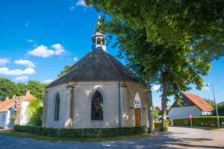 The church in village of nyord in Denmark on a sunny summer day