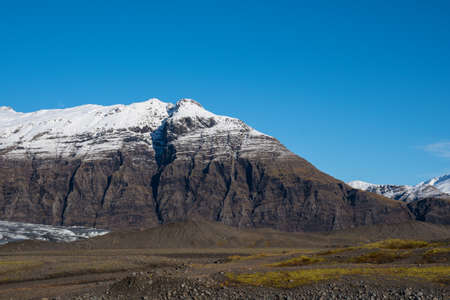Flafjall mountain in south Iceland on a sunny autumn day Stock Photo - 131321454