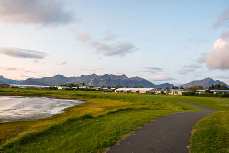 Coastline of Town of Hofn in Iceland Stock Photo - 131321481
