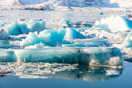 Icebergs in Jokulsarlon Glacier Lagoon in south Iceland Stock Photo