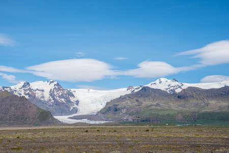 Svinafellsjokull glacier in south Iceland, part of Vatnajokull National park