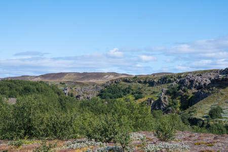 Gjain nature travel destination in thjorsardalur in south Iceland Stock Photo