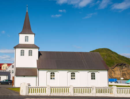 Landakirkja church on island of Heimaey in Vestmannaeyjar in south Iceland