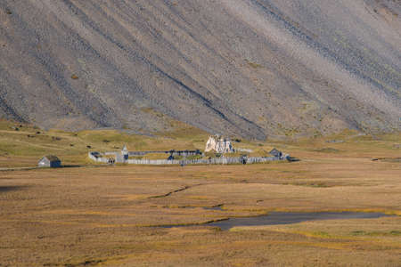 Viking village in Hornafjordur in south Iceland