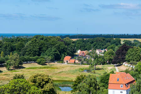 View over city of Vordingborg in Denmark on a sunny summer day Stock Photo