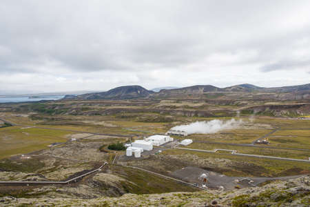 Nesjavellir Geothermal Power Station in south Iceland