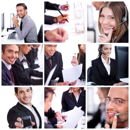 group of business proffesional at their work in office photo