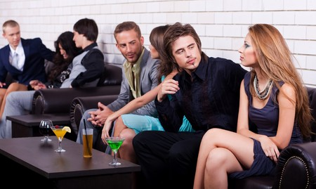 group of people sit at couch in the party and talk each other Stock Photo - 7562223