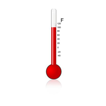 illustration of  thermometer on isolated background illustration