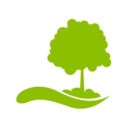 illustration of  icon with tree against white background illustration