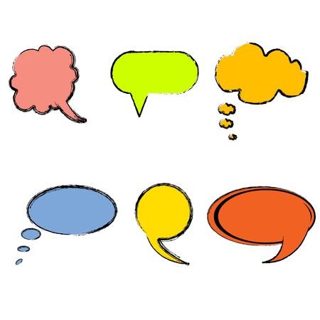 illustration of collection of  speech bibbles Stock Illustration - 7714904