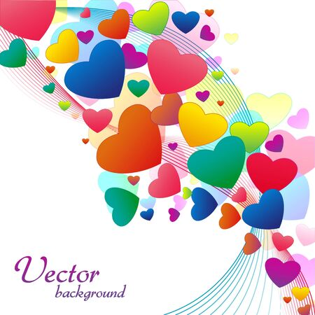truelove: illustration of abstract   background with hearts and swirls Stock Photo