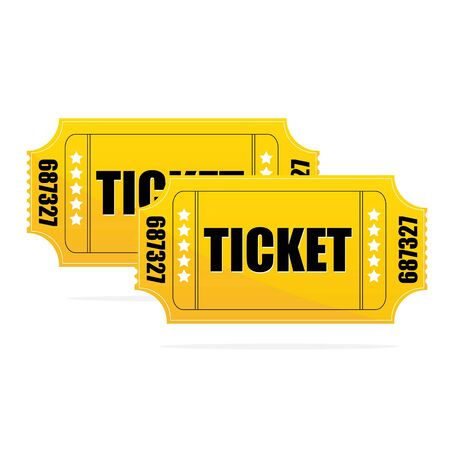 Yellow Ticket   on isolated white background Stock Photo - 7714983