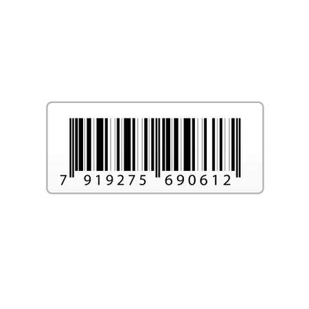 illustration of  bar code sticker on an isolated background Stock Illustration - 7714975