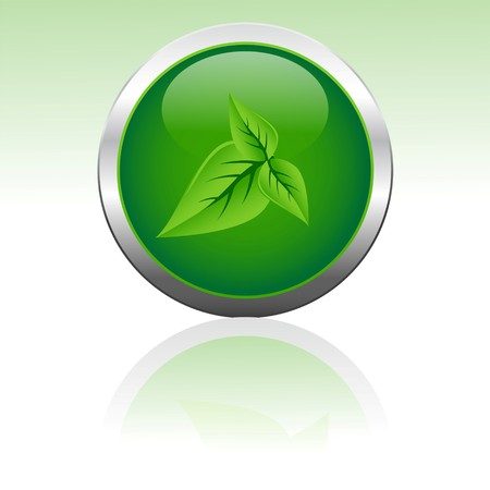 illustration of  icon with leaf in it Stock Illustration - 7736473