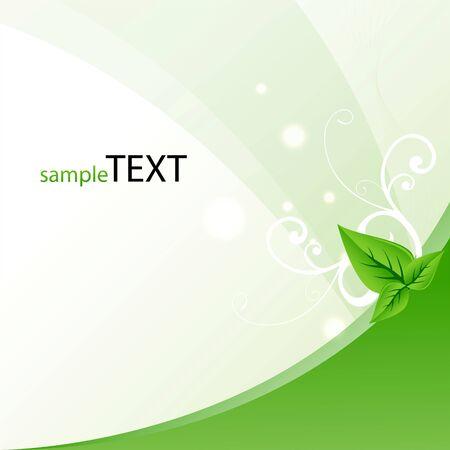 biologic: illustration of template with leaf symbolising safe ecology