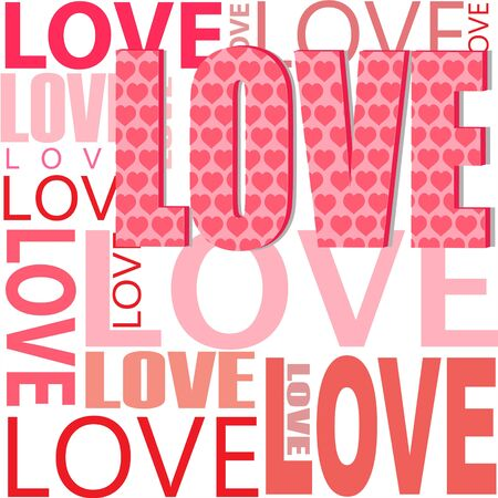 heartily: illustration of abstract   background with love text