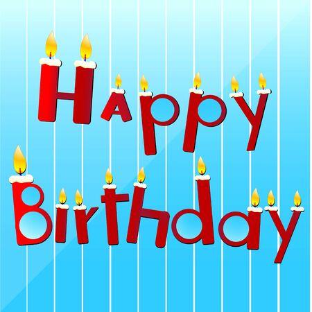 illustration of birthday candles hanging Stock Illustration - 7746275