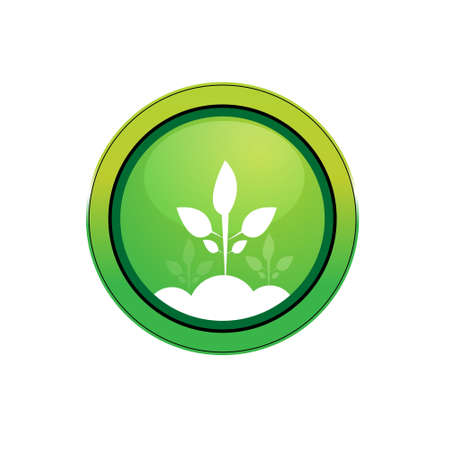 illustration of   icon with plant against white background Stock Illustration - 7743265