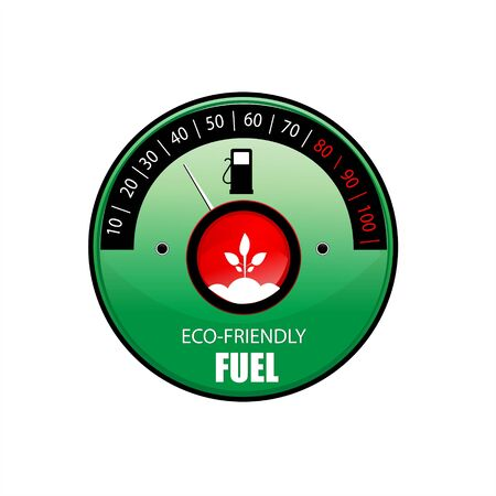 illustration of   icon for ecological fuel against white background Stock Illustration - 7746237