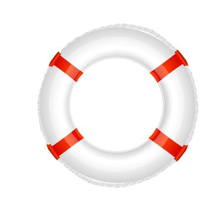 illustration of  lifebuoy on an isolated background Stock Illustration - 7743262
