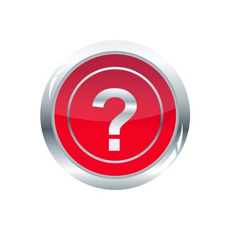 illustration of question mark glossy icon on white background illustration