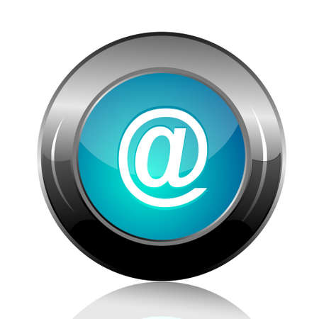 email icon on an isolated white background photo